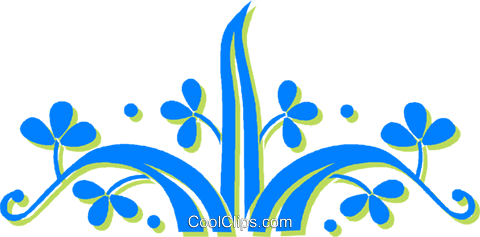decorative floral elements Royalty Free Vector Clip Art illustration vc030873