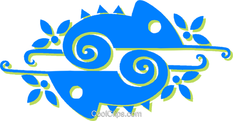 chameleons Royalty Free Vector Clip Art illustration vc030887