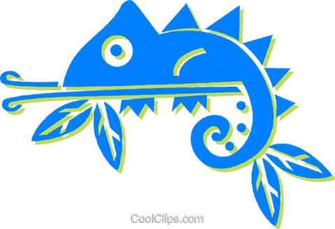 chameleons Royalty Free Vector Clip Art illustration vc030889