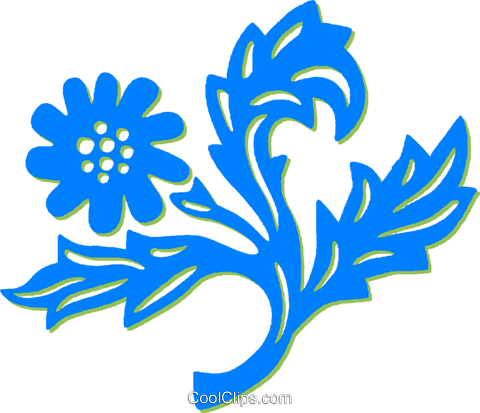 decorative floral elements Royalty Free Vector Clip Art illustration vc030893