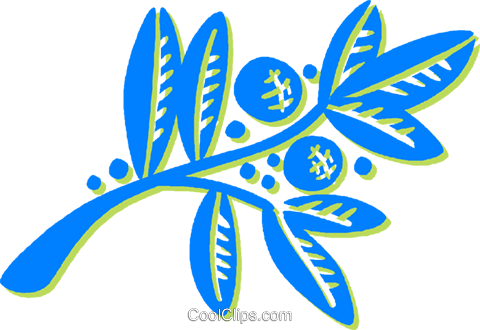 decorative floral elements Royalty Free Vector Clip Art illustration vc030917