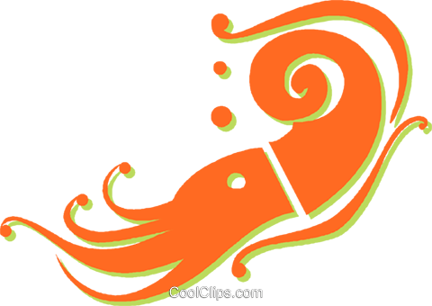 shrimp Royalty Free Vector Clip Art illustration vc030967