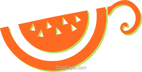 watermelon Royalty Free Vector Clip Art illustration vc030968