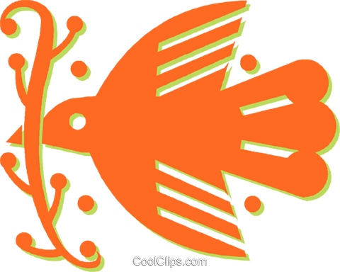 dove of peace Royalty Free Vector Clip Art illustration vc030979