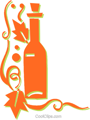 wine Royalty Free Vector Clip Art illustration vc031007