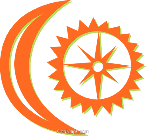 moon and sun Royalty Free Vector Clip Art illustration vc031021