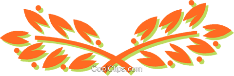 leaves Royalty Free Vector Clip Art illustration vc031025