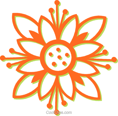 decorative floral design Royalty Free Vector Clip Art illustration vc031034