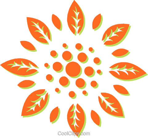 decorative floral design Royalty Free Vector Clip Art illustration vc031035