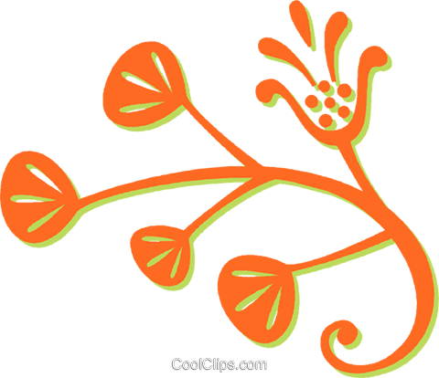 decorative floral design Royalty Free Vector Clip Art illustration vc031042