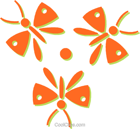 butterflies Royalty Free Vector Clip Art illustration vc031053