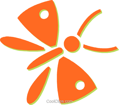 butterflies Royalty Free Vector Clip Art illustration vc031066