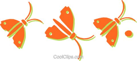 butterflies Royalty Free Vector Clip Art illustration vc031084