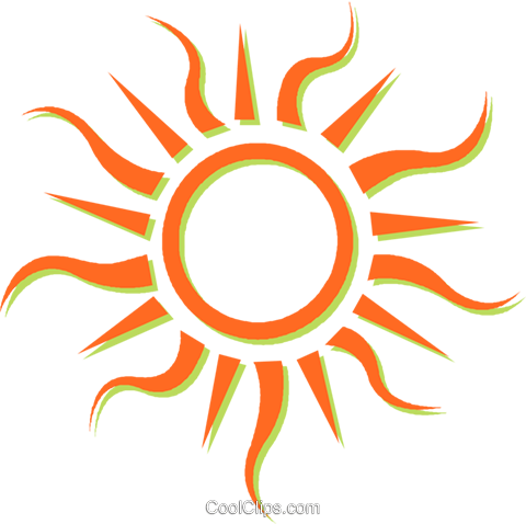 sun Royalty Free Vector Clip Art illustration vc031090
