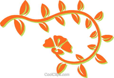 decorative floral design Royalty Free Vector Clip Art illustration vc031107
