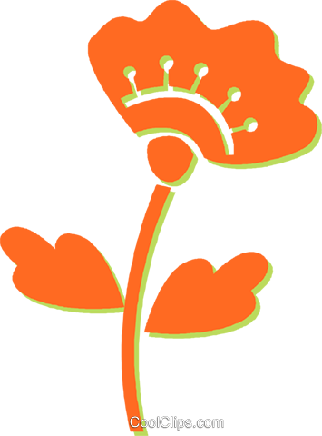 flower Royalty Free Vector Clip Art illustration vc031113