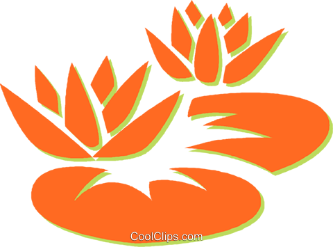 lily pads Royalty Free Vector Clip Art illustration vc031123