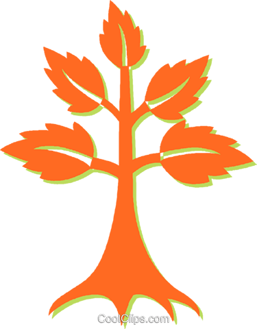 tree Royalty Free Vector Clip Art illustration vc031126