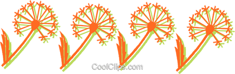 decorative floral design Royalty Free Vector Clip Art illustration vc031131