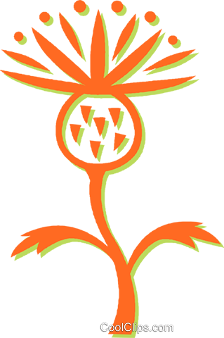 decorative floral design Royalty Free Vector Clip Art illustration vc031145