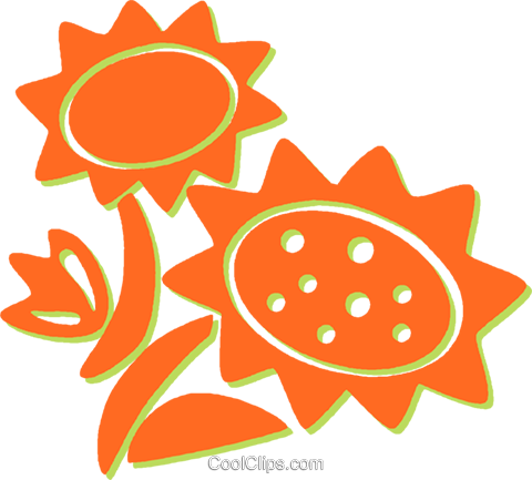 sunflowers Royalty Free Vector Clip Art illustration vc031191