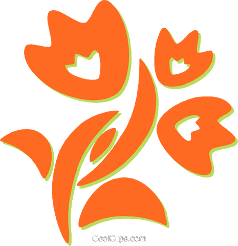 decorative floral design Royalty Free Vector Clip Art illustration vc031194
