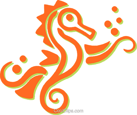 sea horses Royalty Free Vector Clip Art illustration vc031209