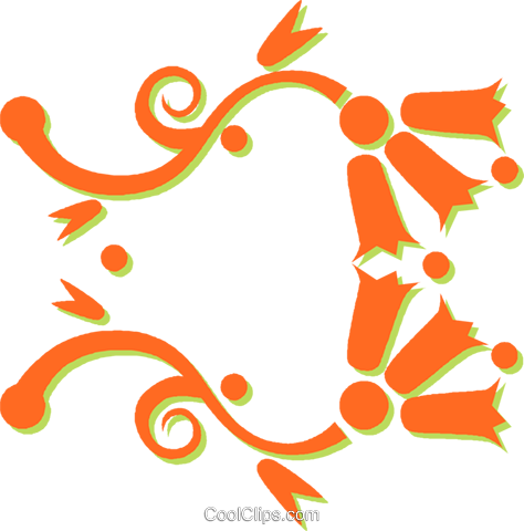 decorative floral design Royalty Free Vector Clip Art illustration vc031224