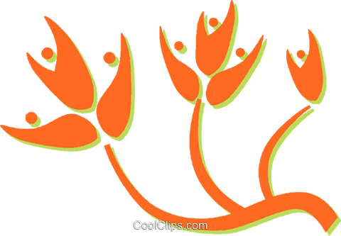 decorative floral design Royalty Free Vector Clip Art illustration vc031233