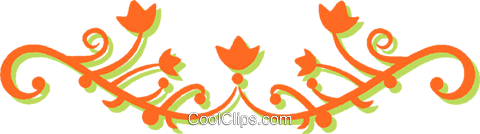 decorative floral design Royalty Free Vector Clip Art illustration vc031234