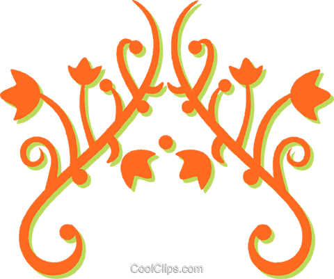 decorative floral design Royalty Free Vector Clip Art illustration vc031235