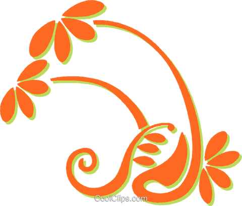 decorative floral design Royalty Free Vector Clip Art illustration vc031239
