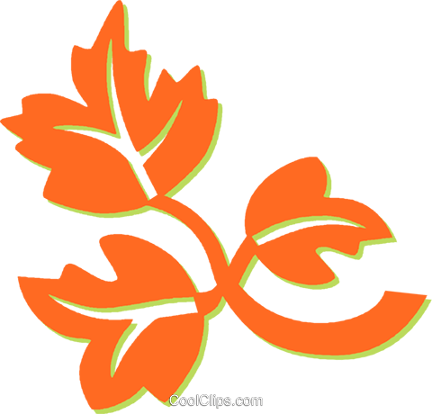 leaves Royalty Free Vector Clip Art illustration vc031257