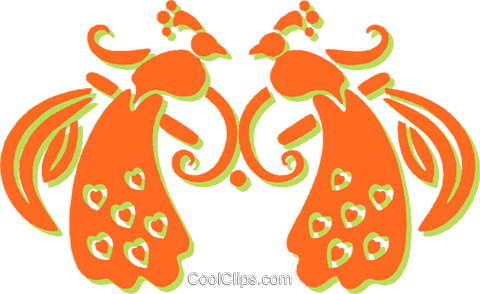 peacock Royalty Free Vector Clip Art illustration vc031278