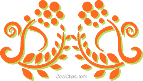 decorative floral design Royalty Free Vector Clip Art illustration vc031282