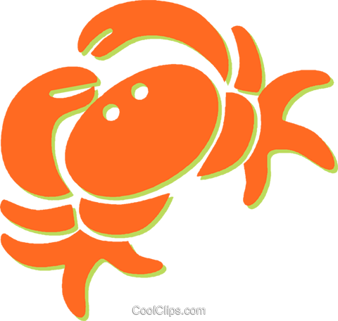 crab Royalty Free Vector Clip Art illustration vc031285