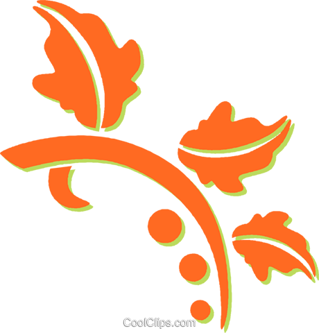 decorative floral design Royalty Free Vector Clip Art illustration vc031295