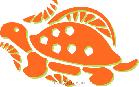 turtle Royalty Free Vector Clip Art illustration vc031305