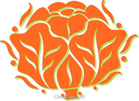 cabbage Royalty Free Vector Clip Art illustration vc031334
