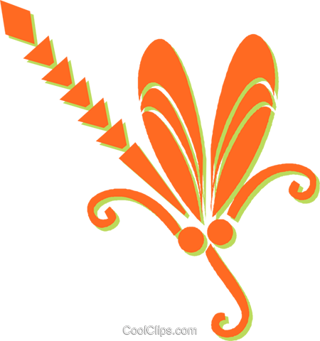 decorative floral elements Royalty Free Vector Clip Art illustration vc031342
