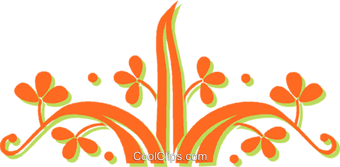 decorative floral elements Royalty Free Vector Clip Art illustration vc031347