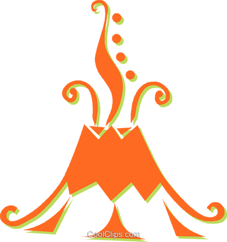 volcanoes Royalty Free Vector Clip Art illustration -vc031356 ...