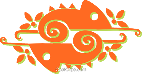 chameleons Royalty Free Vector Clip Art illustration vc031361