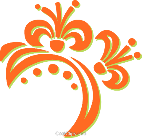 decorative floral elements Royalty Free Vector Clip Art illustration vc031365