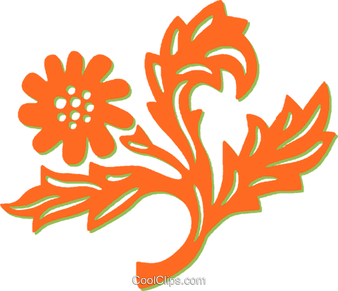 decorative floral elements Royalty Free Vector Clip Art illustration vc031367