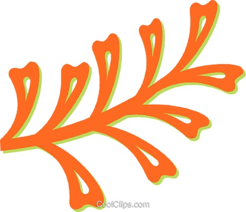 leaves Royalty Free Vector Clip Art illustration vc031404