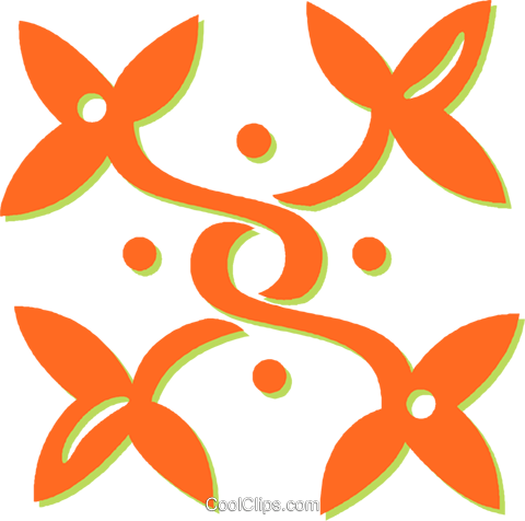 decorative floral design Royalty Free Vector Clip Art illustration vc031423