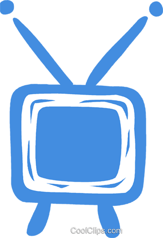 television set Royalty Free Vector Clip Art illustration vc031436