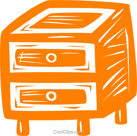chest of drawers Royalty Free Vector Clip Art illustration vc031452