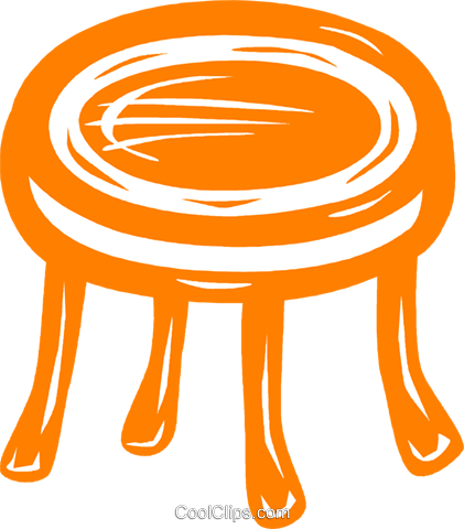 round coffee table Royalty Free Vector Clip Art illustration vc031455